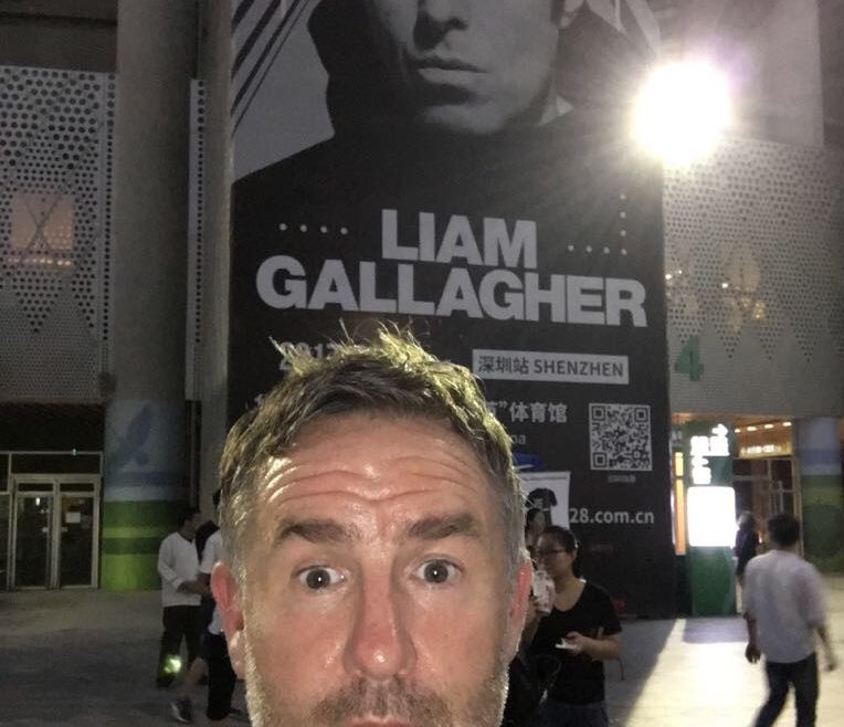 Liam Gallagher in China, with Twenty5Eight to follow…